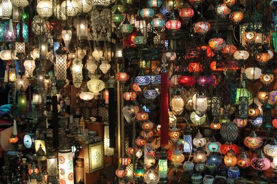 Venta de lámparas en el Gran Bazar