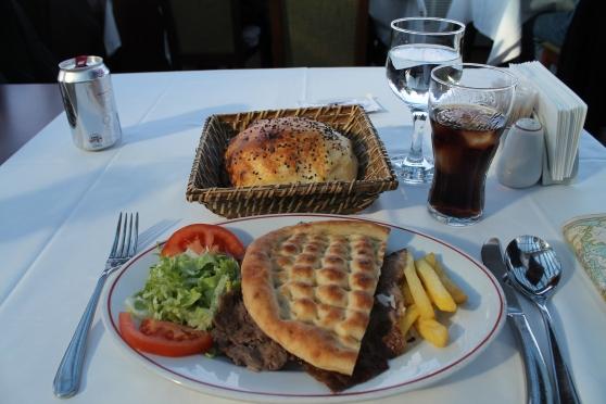 Kebap en el Restaurante Hamdi